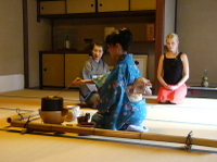 Japanese Tea Ceremony with a Tea Master Photos