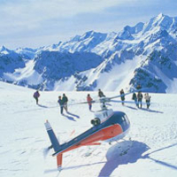 Mount Cook Mountains High Helicopter Flight Photos