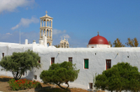 Mykonos Shore Excursion: Private Tour of Little Venice, Kalafati Beach and Panagia Tourliani Monastery