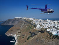 Santorini Helicopter Flight Photos