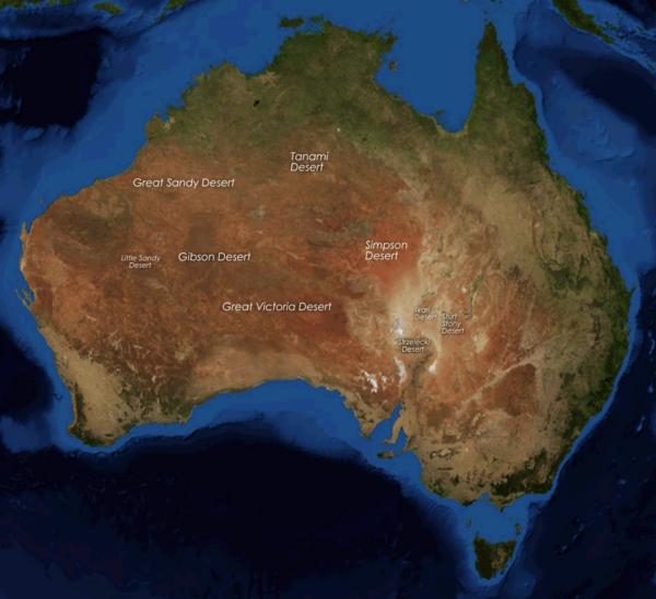 Great Sandy Desert World Map.Australian Desert Rainforest Map Ecosia