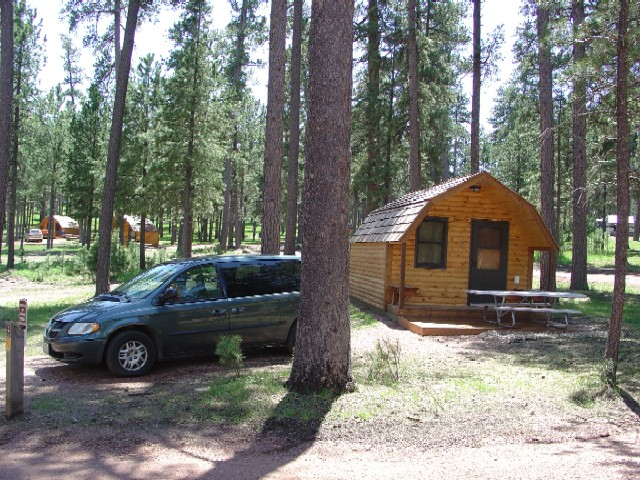 Custer blue bell campground custer united states tourist for Cabins near custer sd
