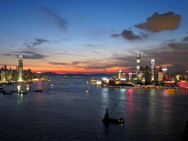 victoria harbour  hong kong  china  tourist information