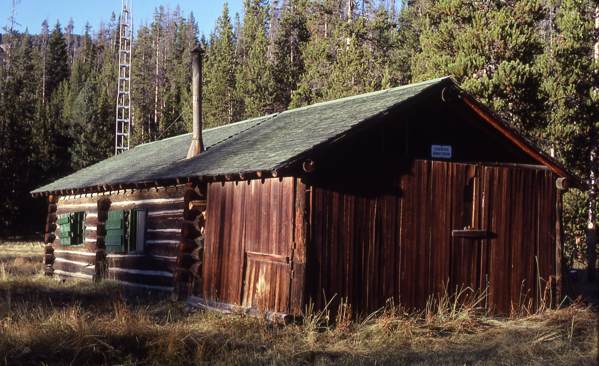 Marvelous photograph of Thorofare Patrol Cabin United States Tourist Information with #186CB3 color and 2000x1223 pixels