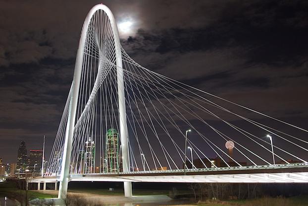 Margaret Hunt Hill Bridge Dallas Estados Unidos